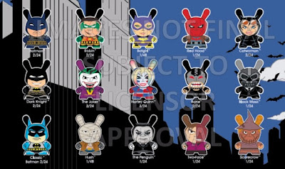 DC Comics Dunny Collection by Kidrobot - Batman Dunny Series