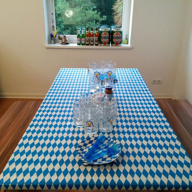 Table set for an Oktoberfest party