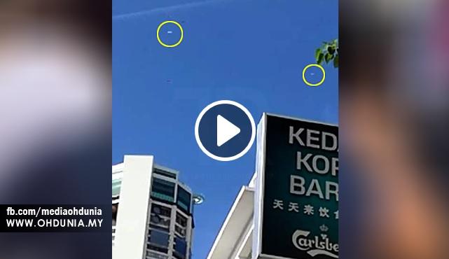 Video: 2 Kapal UFO Dikesan Terbang Berhampiran Bangunan Komtar