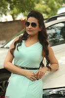 Manjusha in beautiful thin green gown At Jaya Janaki Nayaka le Logo Launch ~  Exclusive 091.JPG