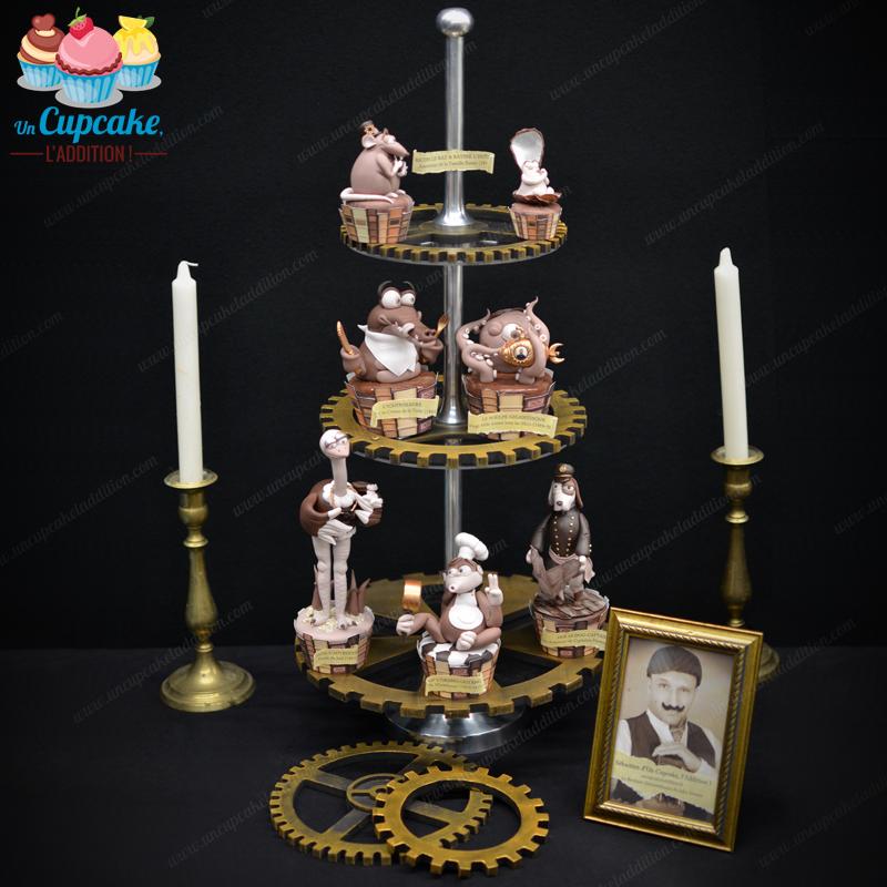 """Cupcakes """"El Bestiario Extraordinario de Julio Verne"""""""