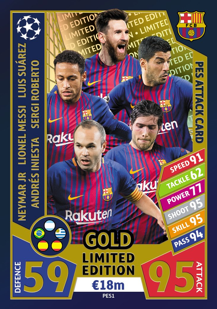 Secured Cards >> Football Cartophilic Info Exchange: Topps - UEFA Champions League Match Attax 2017/18 (01) - PES ...