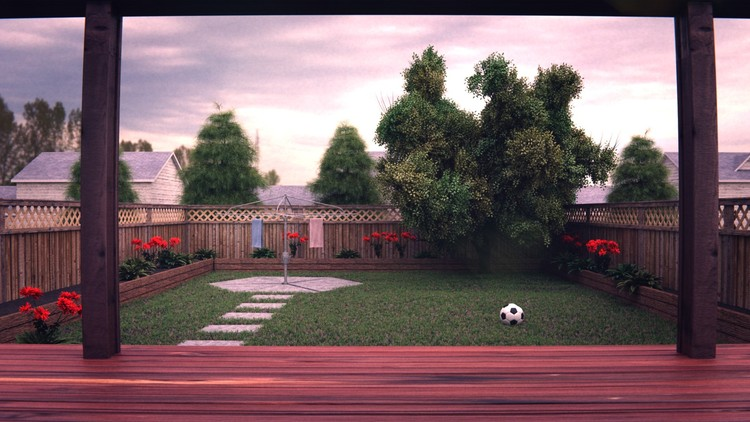 Creating a Realistic 3D Backyard In Blender - Udemy Course