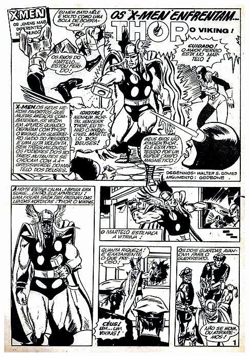 Os X-Men enfrentam Thor, o Viking edições gep #8