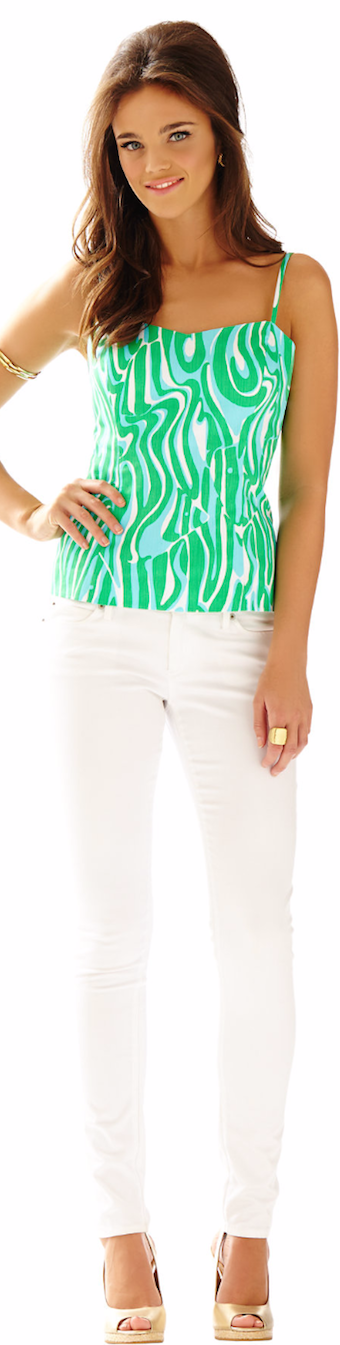 LILLY PULITZER MCCALLUM FITTED SPAGHETTI STRAP TOP