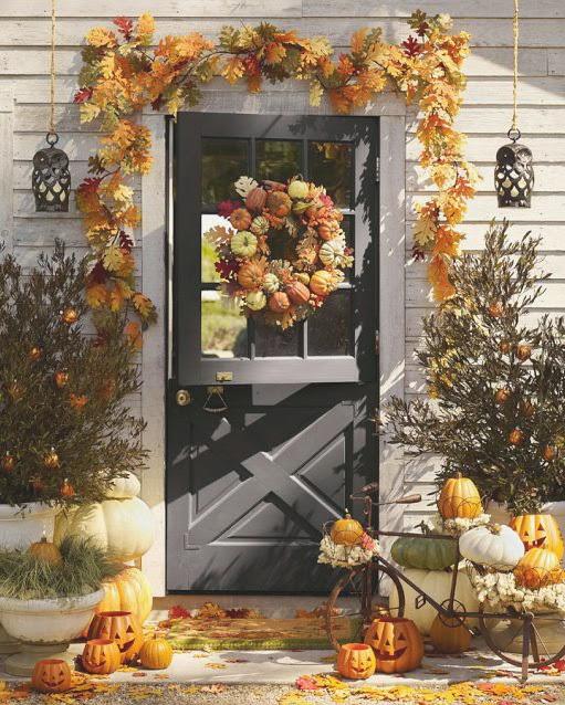 Exterior Front Door Fall Decorations: 6 Fall Porch Decor Ideas