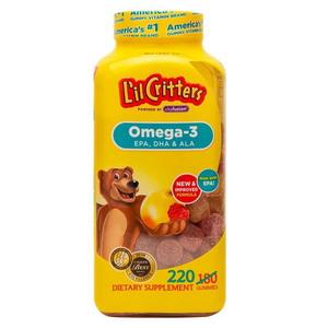 Kẹo bổ sung Omega 3 DHA L'il Critters Gummy Fish 220 Viên Của  Mỹ