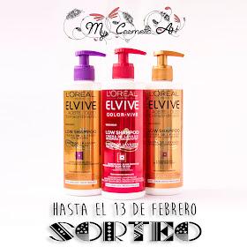 Nuevos champús Low Shampoo de L'Oreal Elvive y SORTEO de un estuche con los tres champús.