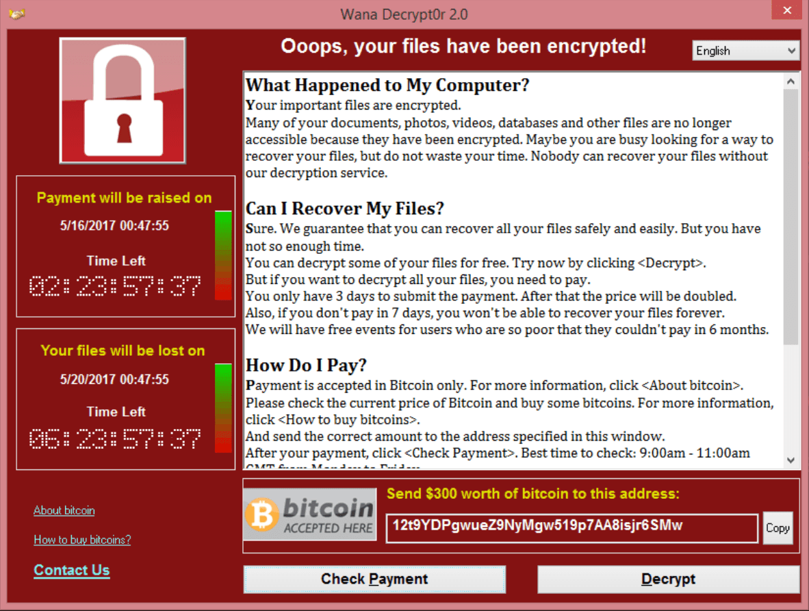 Saiba sobre Wanna Cry 2.0 e o ataque hacker mundial.