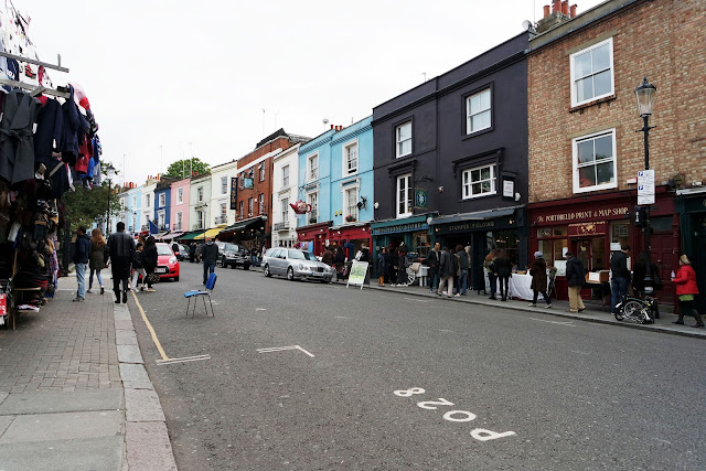 London, Portobello, market, londres, london, vlog, roadtrip, blog, street, pastel house,