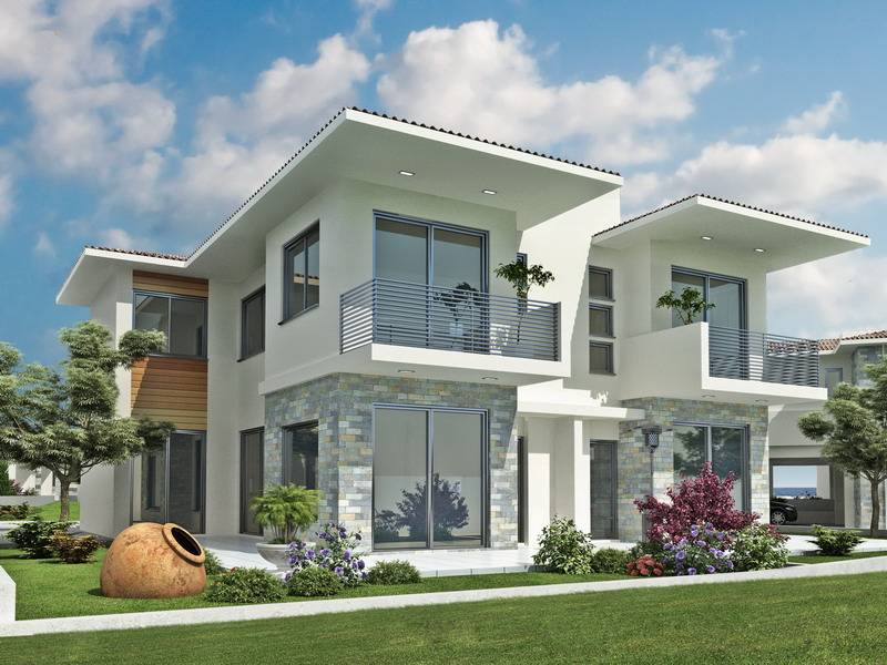 New Home Designs Latest Modern Homes Exterior Views Cyprus