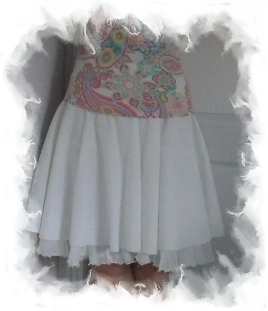 White Skirt Upcycle Project by eSheep Designs