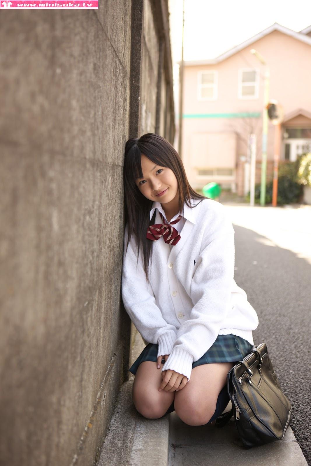 Mayumi Yamanaka Japanese Cute Idol Sexy Schoolgirl Uniform -6341