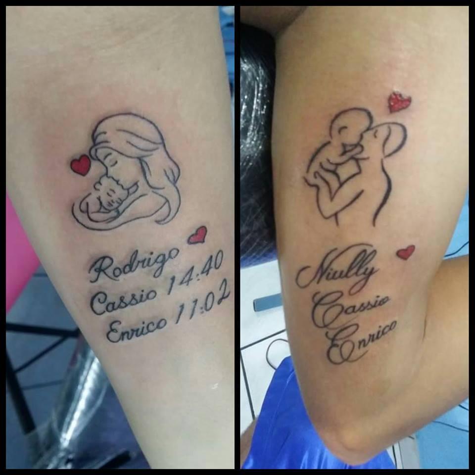 Fotos De Tatuagem De Pai E Filha: Simples E Doce: Tatuagem De Mãe Para Filho