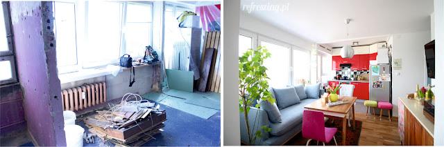 Remont mieszkania. Przed i po.