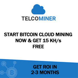 Telcominer Start Bitcoin Cloud Mining Now & Get 15KH/s Free