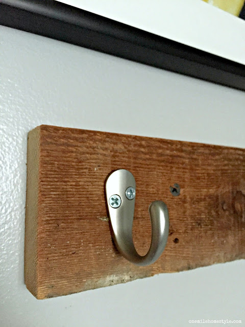 Crazy easy DIY rustic towel hooks add tons of function and character in just a few minutes!