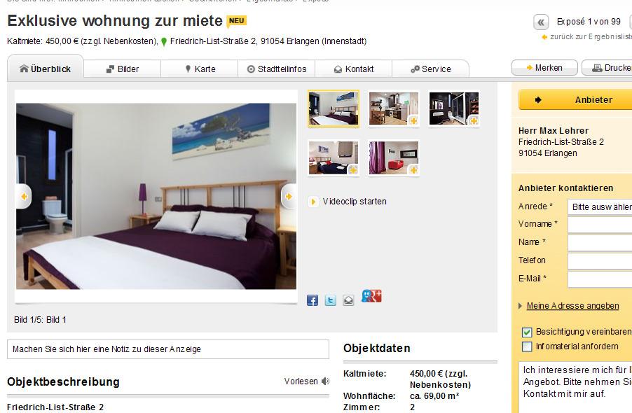 exklusive wohnung zur miete friedrich list stra e 2 91054 erlangen. Black Bedroom Furniture Sets. Home Design Ideas