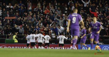 الريال يخسر امام فالنسيا في الدور السادس عشر من مباريات الدوري الاسباني