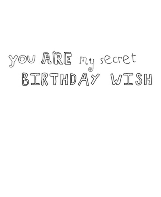 You Are My Secret Birthday Wish Saying Pictures