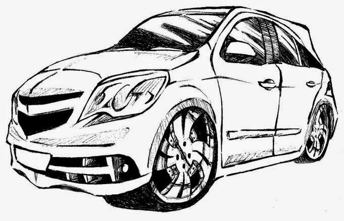 Imagens Carros Tunados Desenhos Preto E Branco Para Colorir