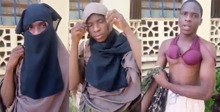 [VIDEO] Man Caught Dressed In Hijab To Enter Female Hostel Of Federal College Of Education, Kano