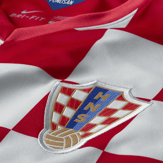 1b94c6317 The Croatia 2014 Home Kit has a slightly redesign HNS badge with the inner  blue part now being divisted into a light and a dark blue part.