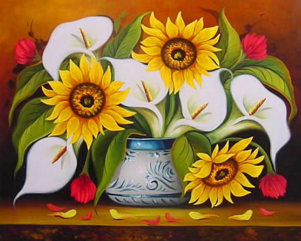 Im genes arte pinturas galer a nuevos cuadros con flores - Lienzos decorativos ...