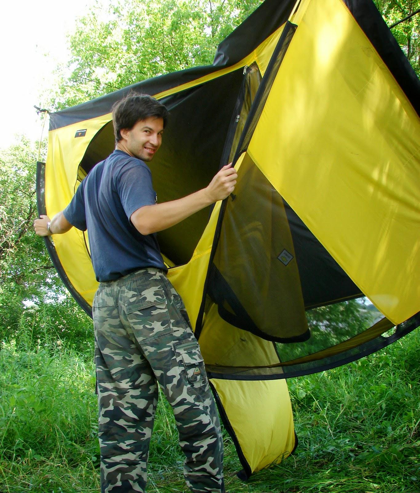 Палатка с карманами для дуг