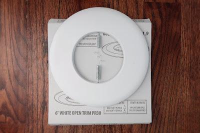 "6"" trim ring recessed can light"
