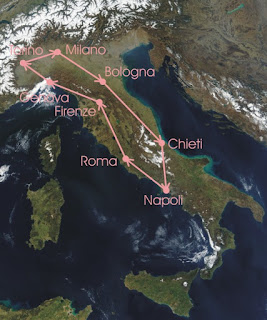 Picture of map of Giro d'Italia
