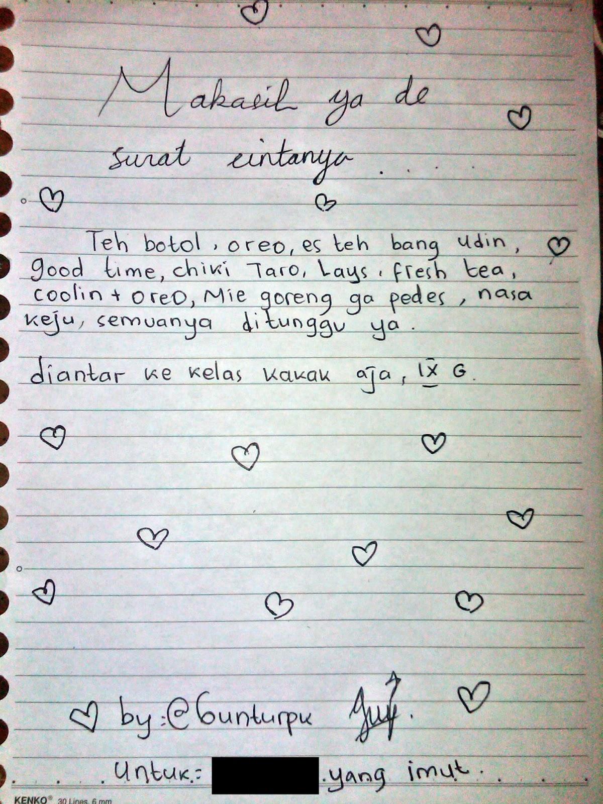 Surat Cinta Singkat Untuk Kakak Kelas : surat, cinta, singkat, untuk, kakak, kelas, Contoh, Surat, Cinta, Untuk, Kakak