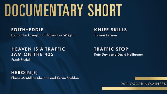 The Oscars - Best Documentary Short 2018