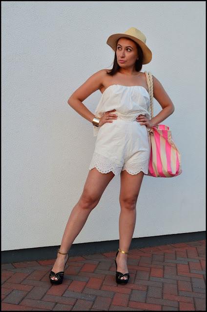 #phenomenalus #phenomenaluschallenge, #widzialnefenomenalne, Adriana Style Blog, Blog modowy Pulawy, garden party, H&M Playsuit, Hat, Kapelusz, Kombinezon, koturny, moda, Outfit