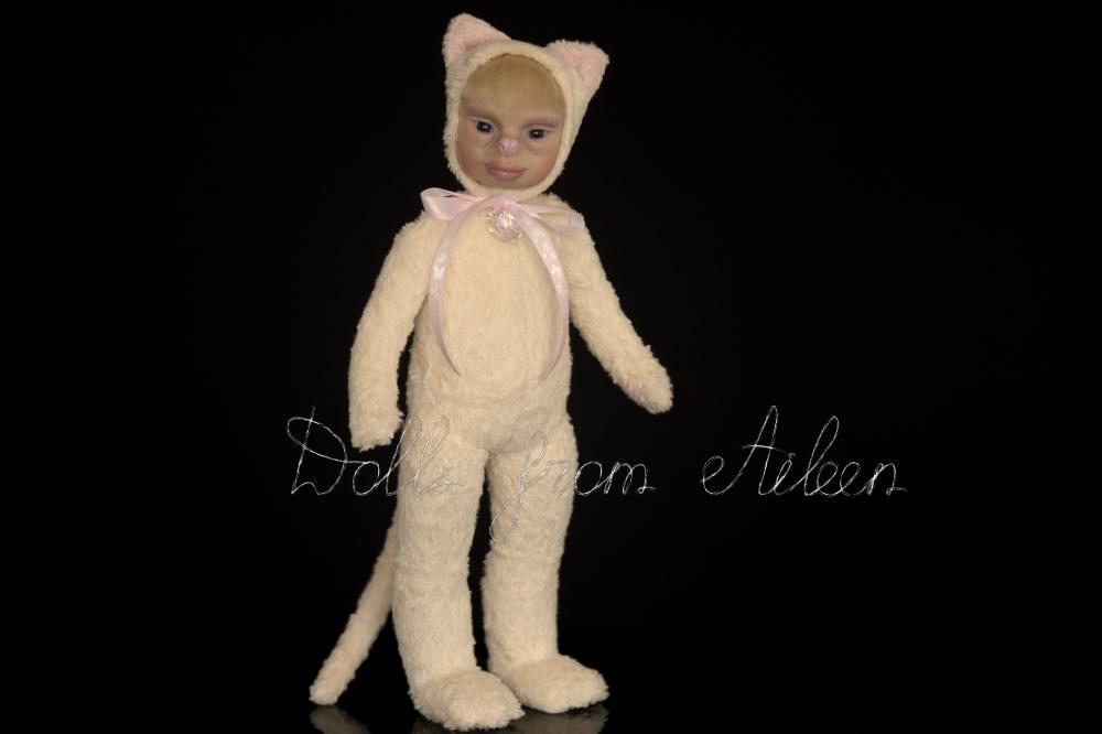 ooak artist teddy cat doll