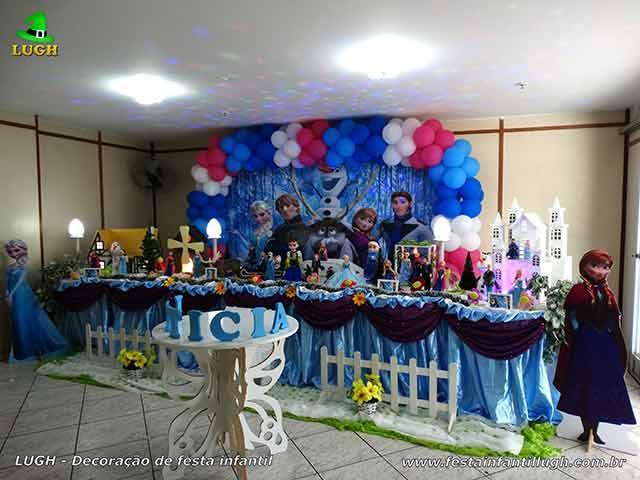 Ornamentação de festa infantil Frozen para aniversário de meninas - Barra - Rio de Janeiro