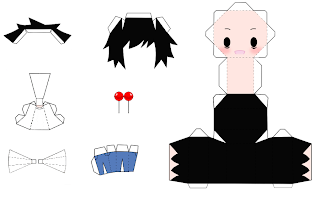 Pchan: Papercraft : vocaloid y anime