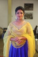 Actress Eesha in Yellow Choli Blue Ghagra at Darshakudu music launch 030.JPG