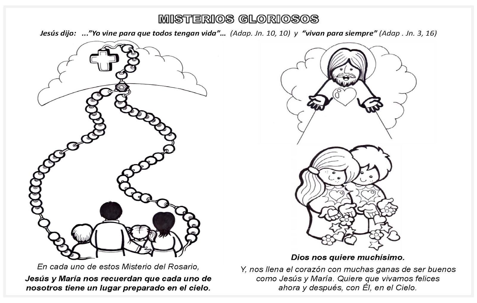 """Dibujos De Las Misiones: Taller: """"JUGANDO ME ACERCO A MARÍA"""": MISTERIOS GLORIOSOS"""