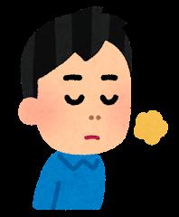 五感のイラスト(嗅覚・男性)