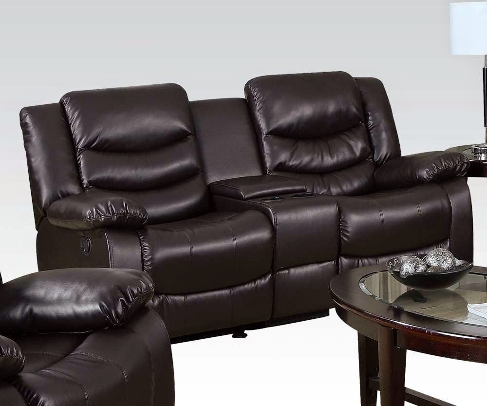 darrin leather sofa reviews sets dubai reclining sale: with cup holders