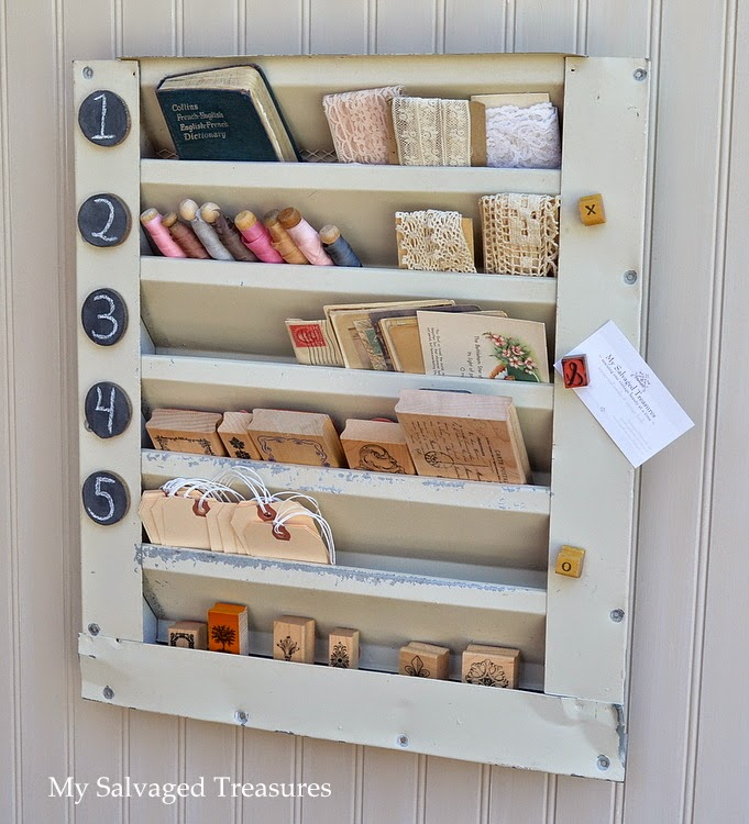upcycle an old metal attic vent cover