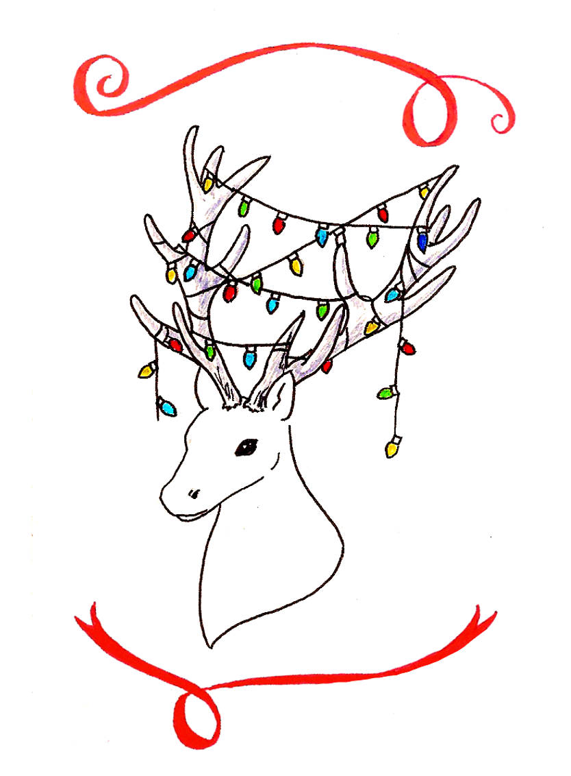 Reindeer Christmas Cards Drawings.Hand Drawn Christmas Cards Free Downloads A Blackbird S