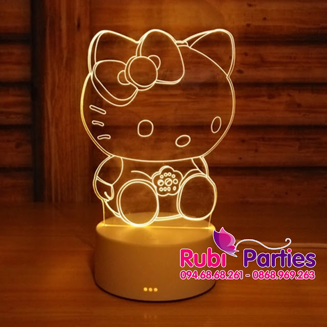Den LED 3D Hinh Kitty (726)