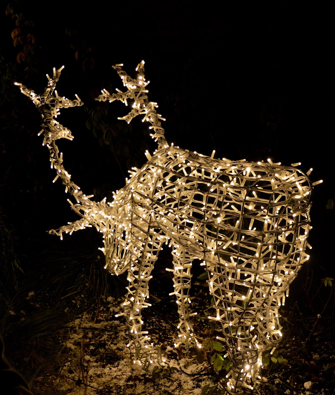 Winter Wonderland Christmas Light Show | A Wynyard Hall Garden Event - A Review - reindeer