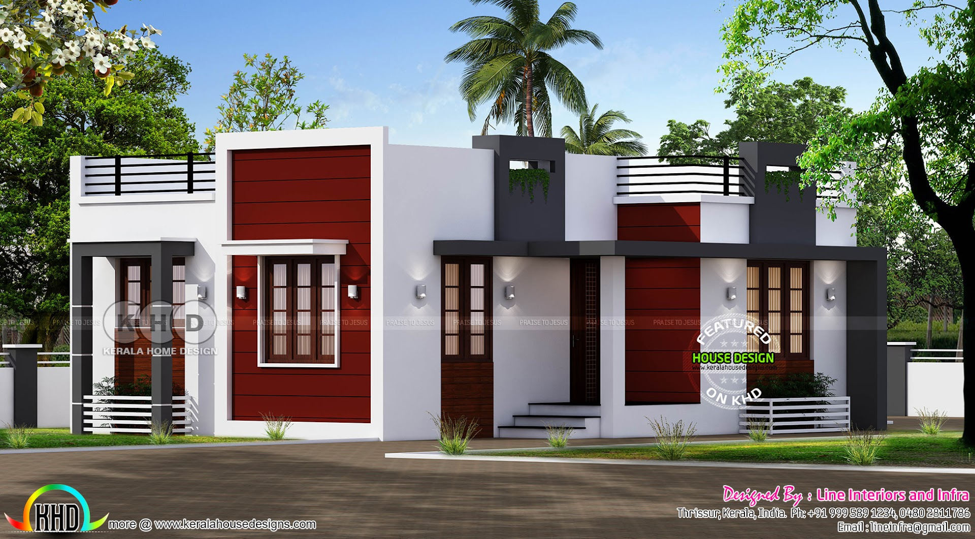 small modern home - 29+ Small Budget House Design In Kerala  Gif