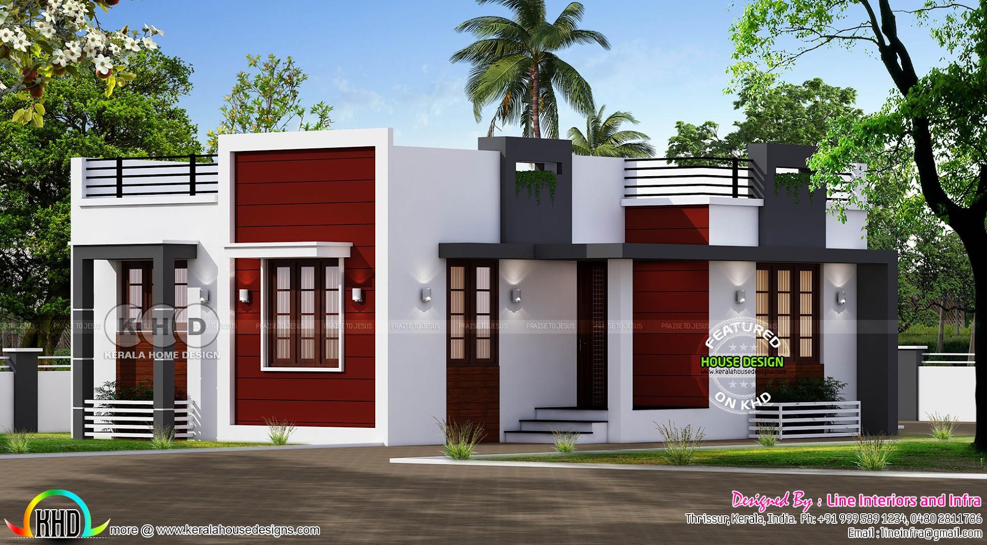 640 sq-ft small budget modern home - Kerala home design ...