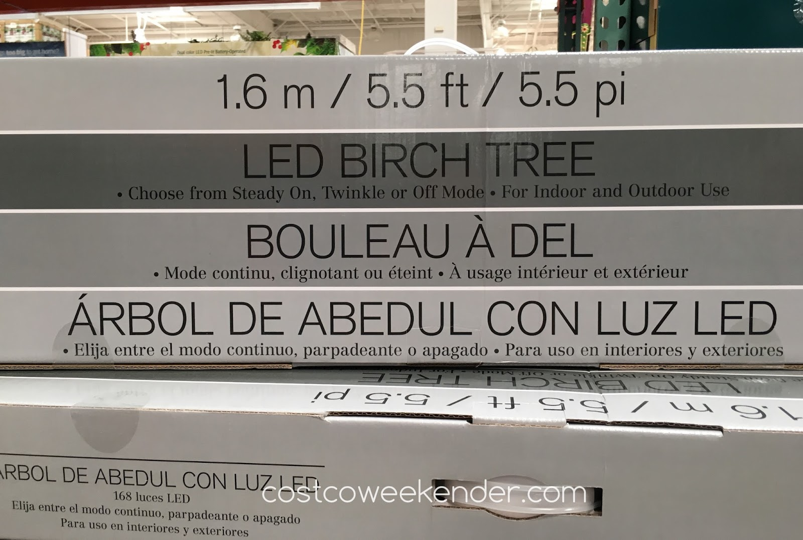Costco 999066 - LED Birch Tree - great for the holidays