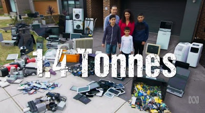 This family of five will generate 1.4 tonnes of ewaste over 10 years acccording to the War on Waste