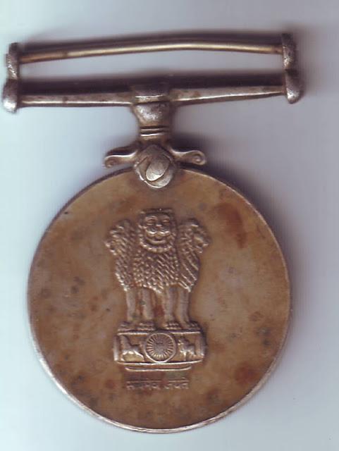 Rare Indian Collectibles Raksha Medal Indian Army